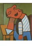 Am Tisch sitzender Fischer 1946 Pablo Picasso Postkarte